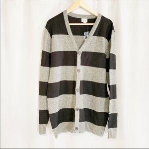 Old Navy gray black striped wool blend sweater M